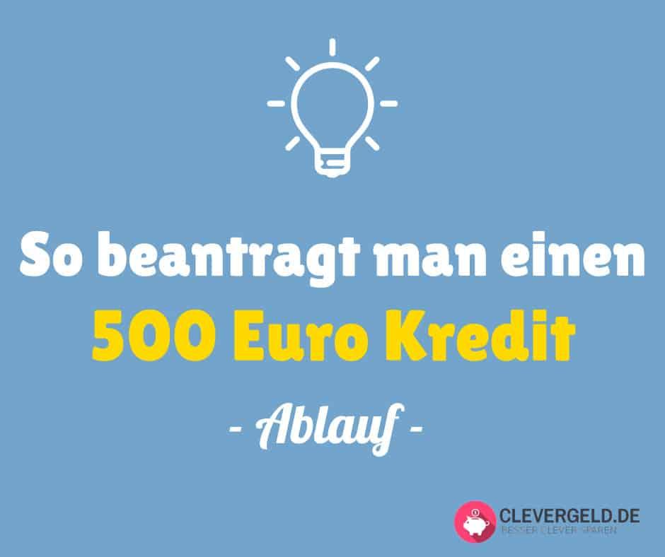 500 Euro Kredit Antrag und Ablauf