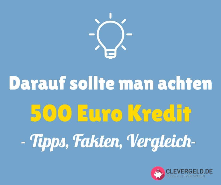 500 Euro Kredit - wichtige Merkmale